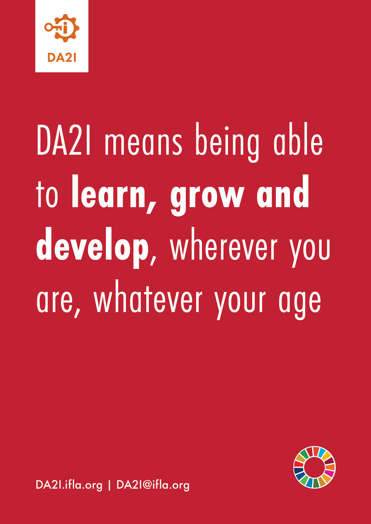 DA2I means being able to learn, grow and develop, wherever you are, whatever your age