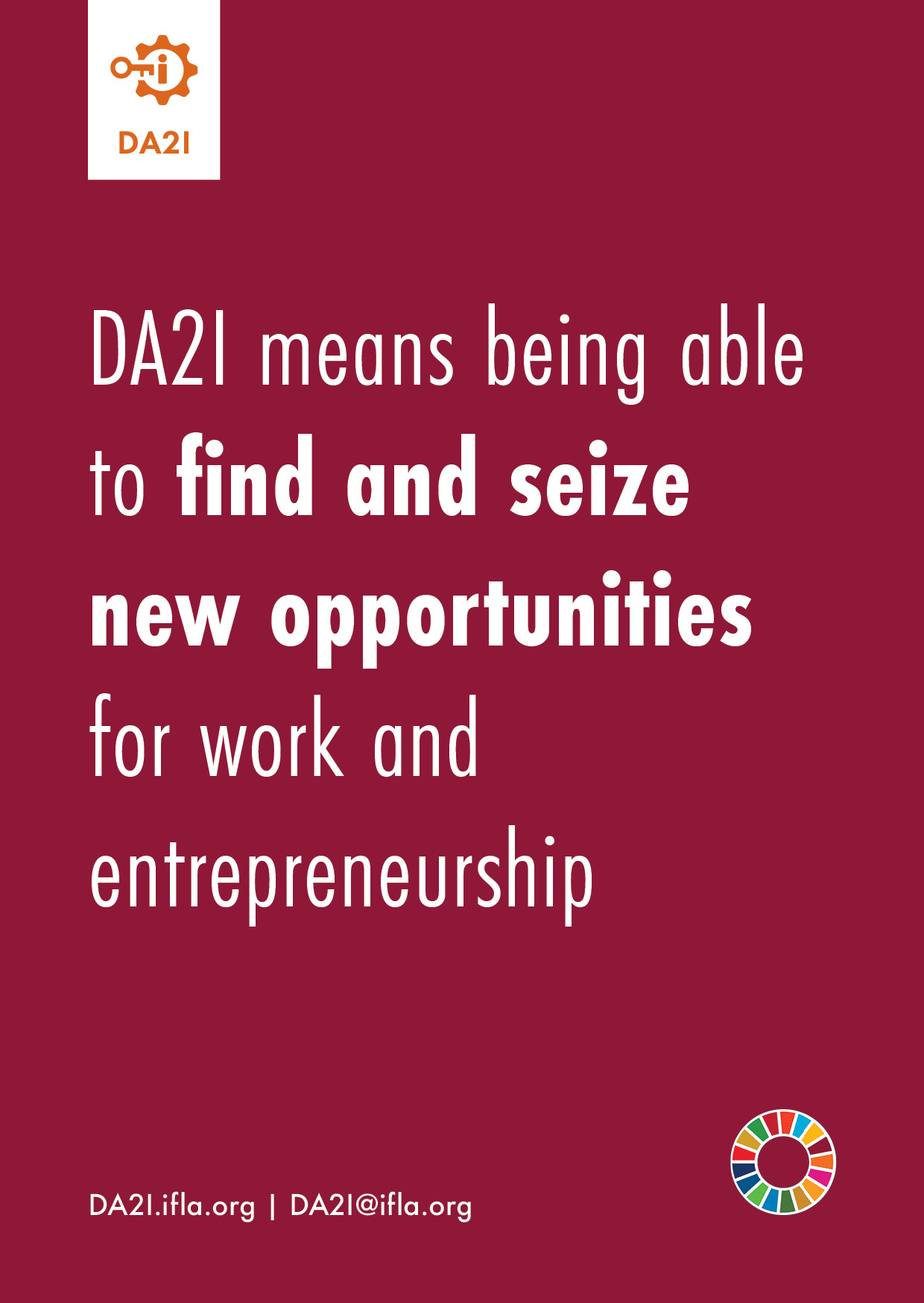 DA2I means being able to find and seize new opportunities for work and entrepreneurship